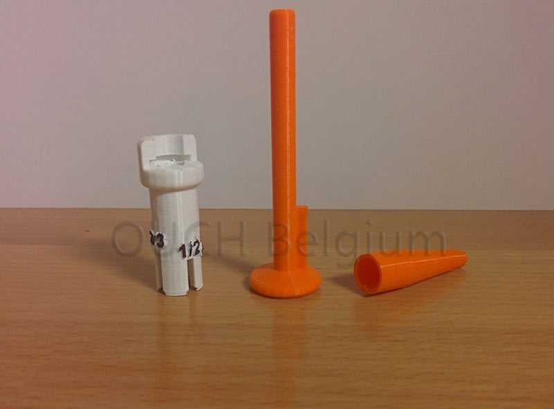 3D injector for injection of partial doses
